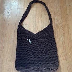 The Sak Brown Crochet shoulder bag